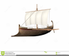 Ancient Greek Ship Clipart Image