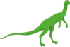 Green Long Necked Standing Dinosaur Clip Art