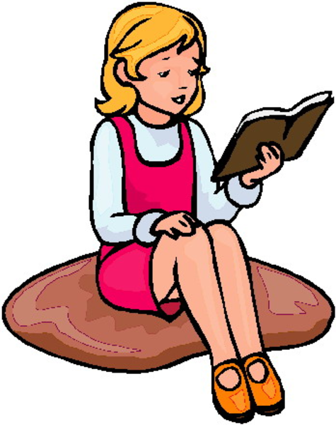 Girl Reading | Free Images at Clker.com - vector clip art ...