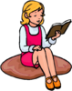 Girl Reading Image