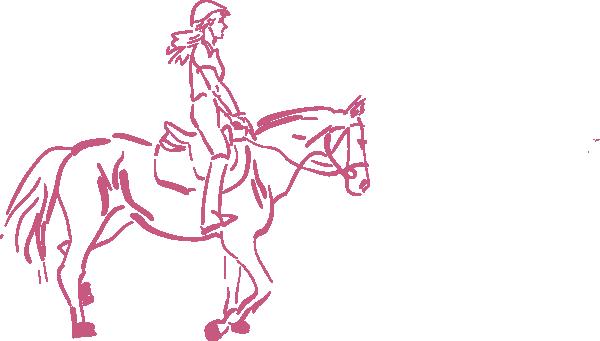 clip art girl riding horse - photo #12