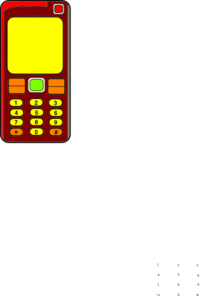 Mobile Phone In Colour Clip Art