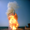 A Tactical Tomahawk Cruise Missile Launches From The Guided Missile Destroyer Uss Stethem (ddg 63) During A Live-warhead Test Image
