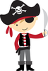 Pirate Ship Flag Clipart Image