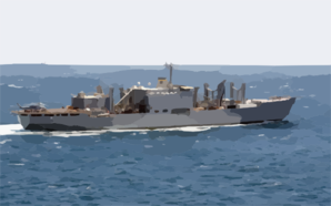 The Military Sealift Command Combat Stores Ship Usns Niagara Falls (t-afs 3) Underway Conducting Missions In Support Of Operation Iraqi Freedom Clip Art