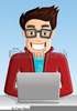 Computer Geek Clipart Free Image
