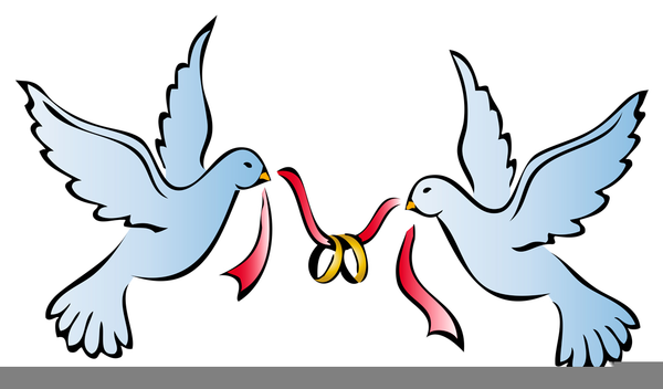 Wedding Rings Clipart.Doves Wedding Rings Clipart Free Images At Clker Com