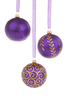 Purple Christmas Baubles Oz Image