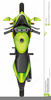 Top View Motorcycle Clipart Image