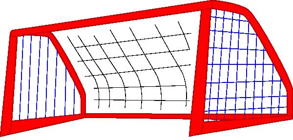 red soccer goal net blue lines clip art at clker com vector clip rh clker com soccer goal clip art free clipart soccer goal