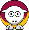 Sheep - Loyola (il) Ramblers - Team Colors - College Football Clip Art