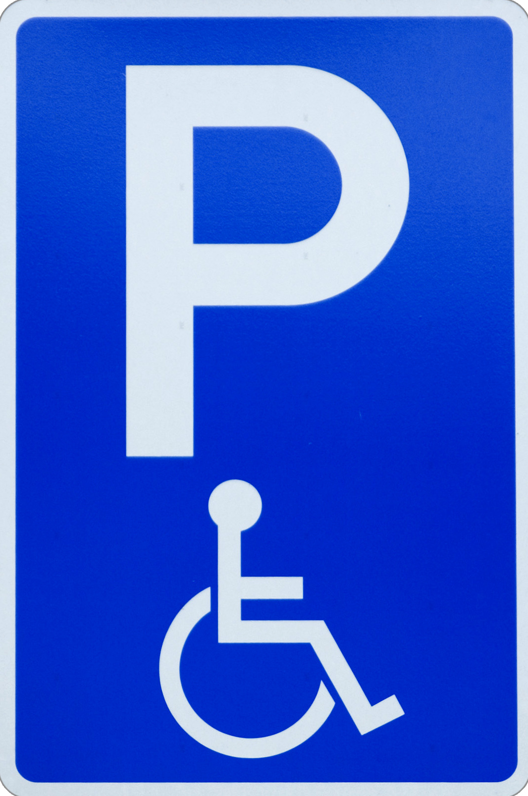 Wheelchair parking sign
