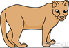 Clipart Of Cougar Image