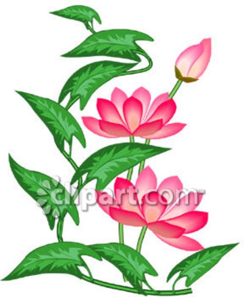free blue lotus flower clip art - photo #38