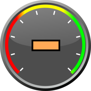 Speedometer With Text Center Clip Art