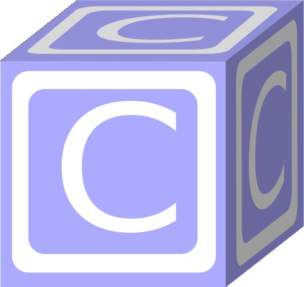 C Block Blue Clip Art At Clker Com