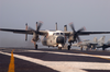 C-2 Greyhound  Makes An Arrested Landing On The Flight Deck Aboard Uss Harry S. Truman (cvn 75). Image