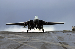 F-14d Makes An Arrested Landing Image