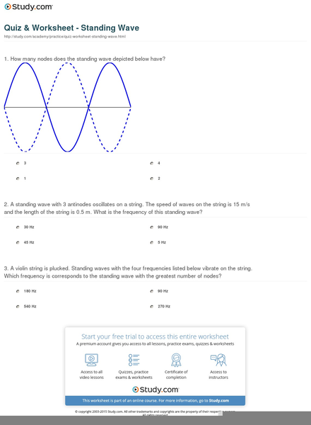 Standing Waves Worksheet Free Images At Clker Vector Clip