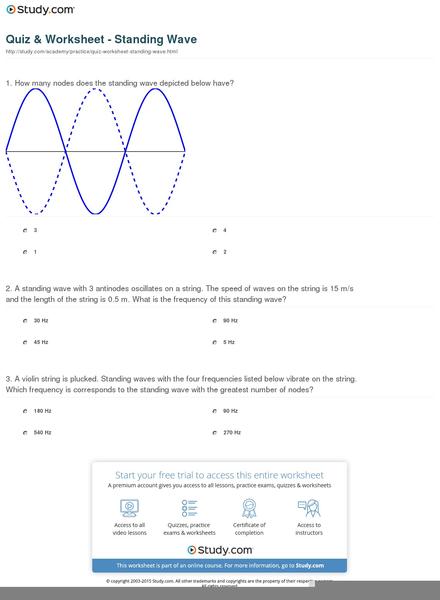 Standing Waves Worksheet | Free Images at Clker.com - vector clip ...