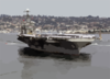 Uss Abraham Lincoln (cvn 72) Makes Its Way To Naval Air Station North Island . Clip Art