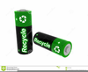 Recycle Batteries Clipart Image