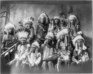 [chief Red Cloud And Chiefs (group Of 10)] Image
