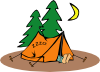 Camper Sleeping Clip Art