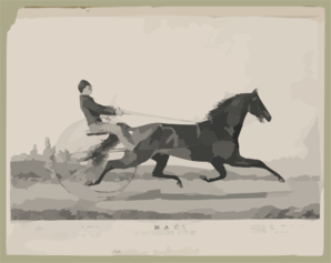 Mac : June 28th 1853 In A Match With  Tacony  Over The Union Course L.i. Mile Heats In Harness, Won The Two First Heats In 2:28-2:29 Clip Art