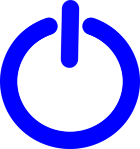 Blue F Power Button Clip Art