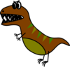 Dino: Very Simple Bd Style T-rex Clip Art