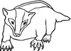 Honey Badger Clipart Image