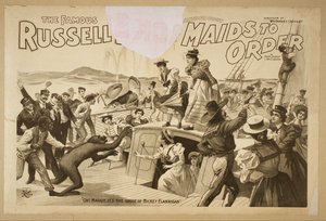 The Famous Russell [bros. In The Preten]tious Oddity, Maids To Order By Frank Dumont And Wm. F. Carrol. Image