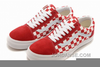 Red Checkered Shoes Image