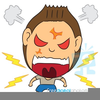 Angry Man Cartoon Clipart Image
