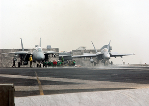 Carrier Air Wing 17 Aircraft Prepare For Launch. Image
