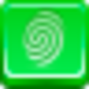 Free Green Button Finger Print Image