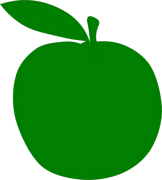 Green Apple Clip Art at Clker.com - vector clip art online, royalty ...