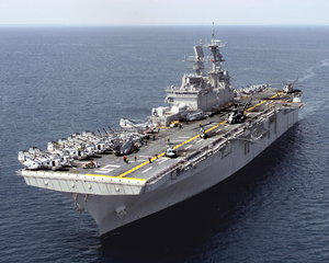 Uss Bataan At Sea Image