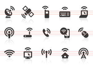 0091 Wireless Technology Icons Image