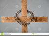 Cross With Crown Of Thorns Clipart Image