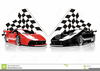 Race Car Clipart Flags Image