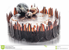 Chocolate Birthday Cake Clipart Image