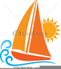 Yacht Sailing Clipart Image
