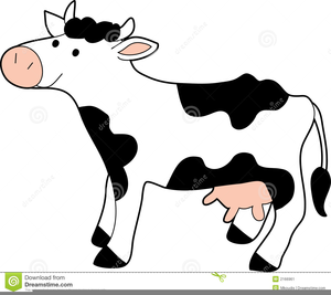 Free Black And White Cow Clipart Image
