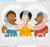 Cartoon Of A Group Of Diverse Middle Aged Female Friends Royalty Free Vector Clipart Image