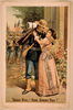 [man Wearing Military Uniform, Holding Rifle, And Embracing Woman With Troops In Background] Image