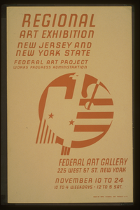 Regional Art Exhibition - New Jersey And New York State Federal Art Project Works Progress Administration - Federal Art Gallery. Image