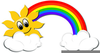 Rainbows And Sunshine Clipart Image
