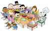 Peanuts Thanksgiving Dinner Image